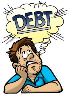 man worry Debt